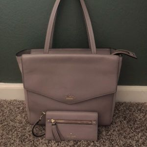 Kate Spade Icy Lavender Bag with Matching Wallet